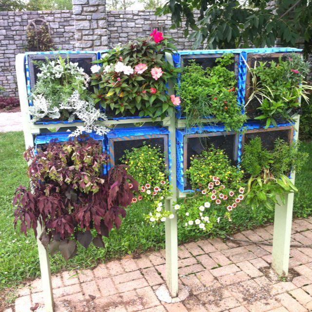 Vertical Planter Using Milk Crates Milk Crates Crates Garden Projects