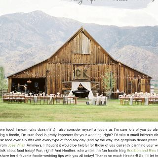 Outdoor barn reception!! Big letters and lights!
