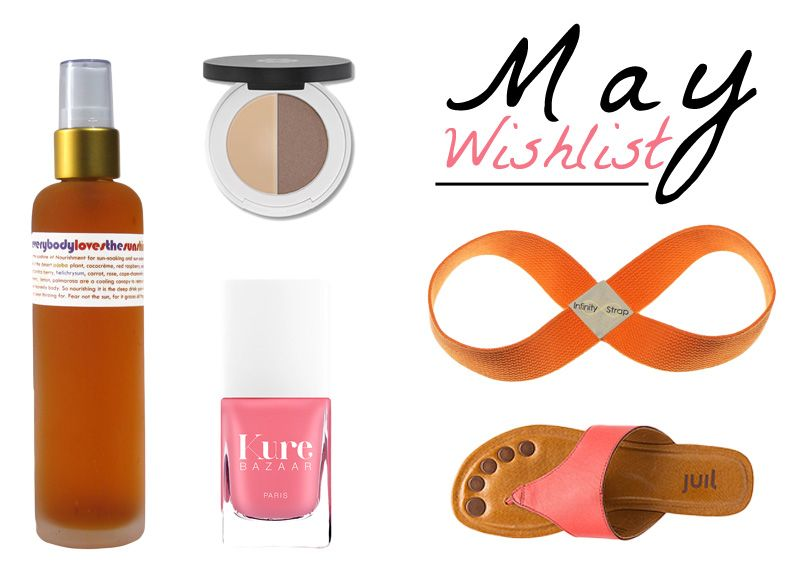 New post on #frivolousgirl - May Wishlist including: Living Libations Lily Lolo Cosmetics Yoga Infinity Strap Kure Bazaar Nail Polish Juil Sandals