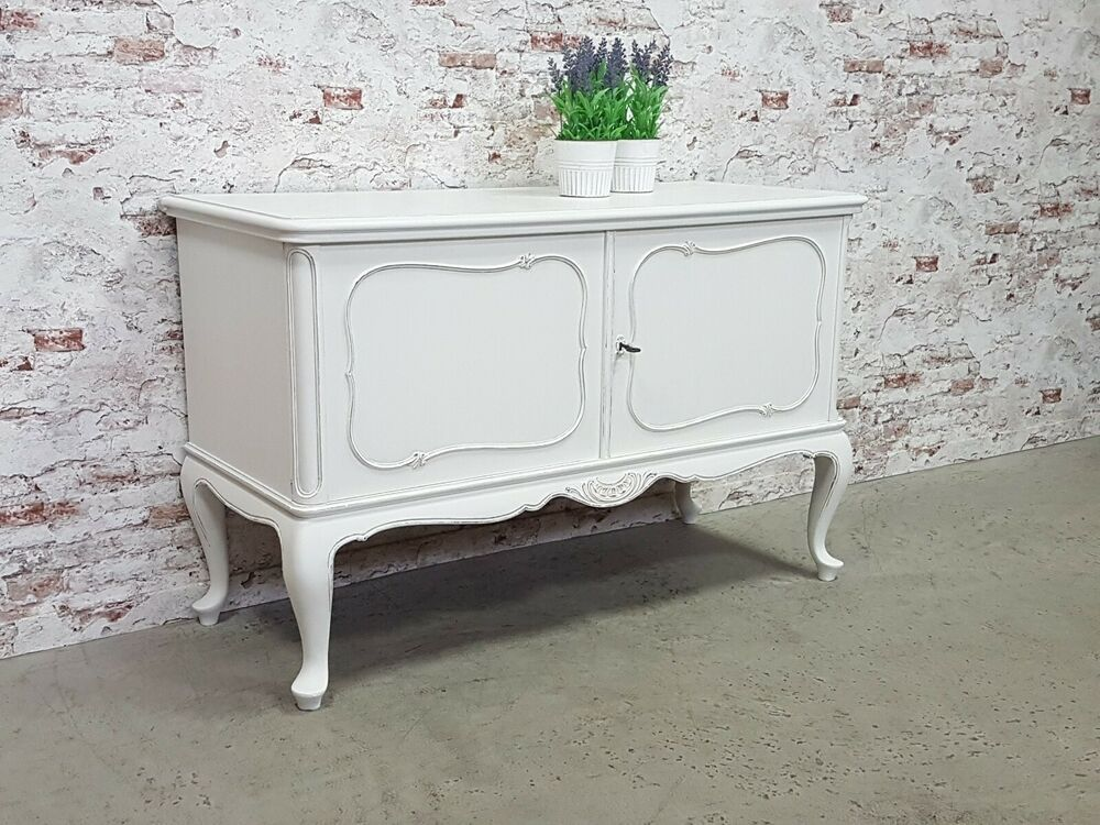 Sideboard Holz Antik Sideboard Chippendale Anrichte Shabby Chic Antik Weiss ...