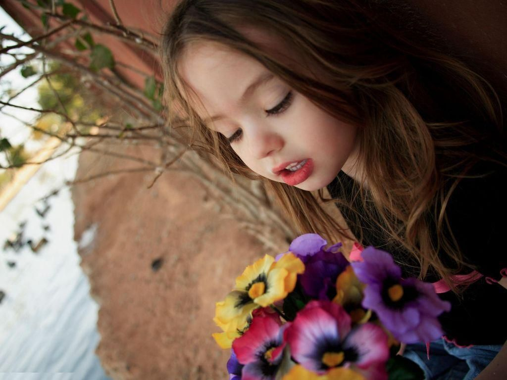 girls+and+colorado+flowers |  girls with flowers hq wallpapers 1