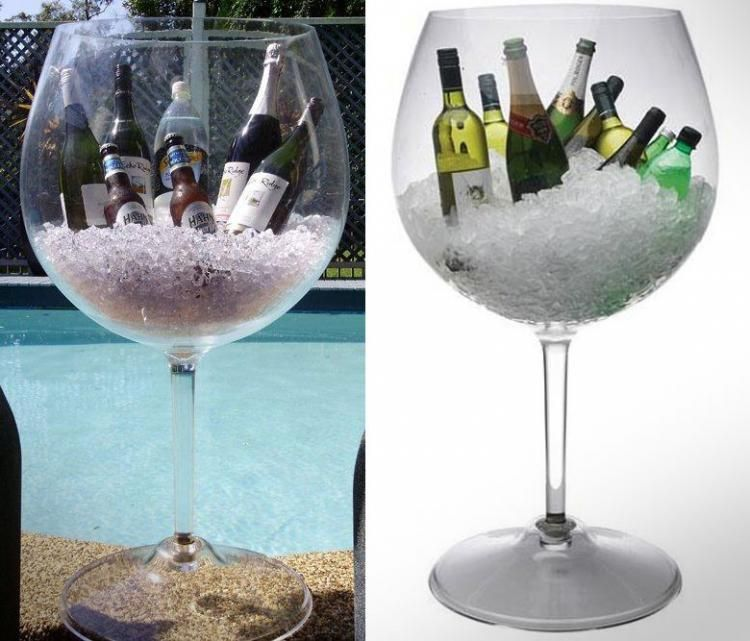 Giant Wine Cooler Giant Wine Glass Ice Buckets And Wine