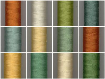 Beautiful colors chosen by Megan of Monkey Beans blog for a quilt