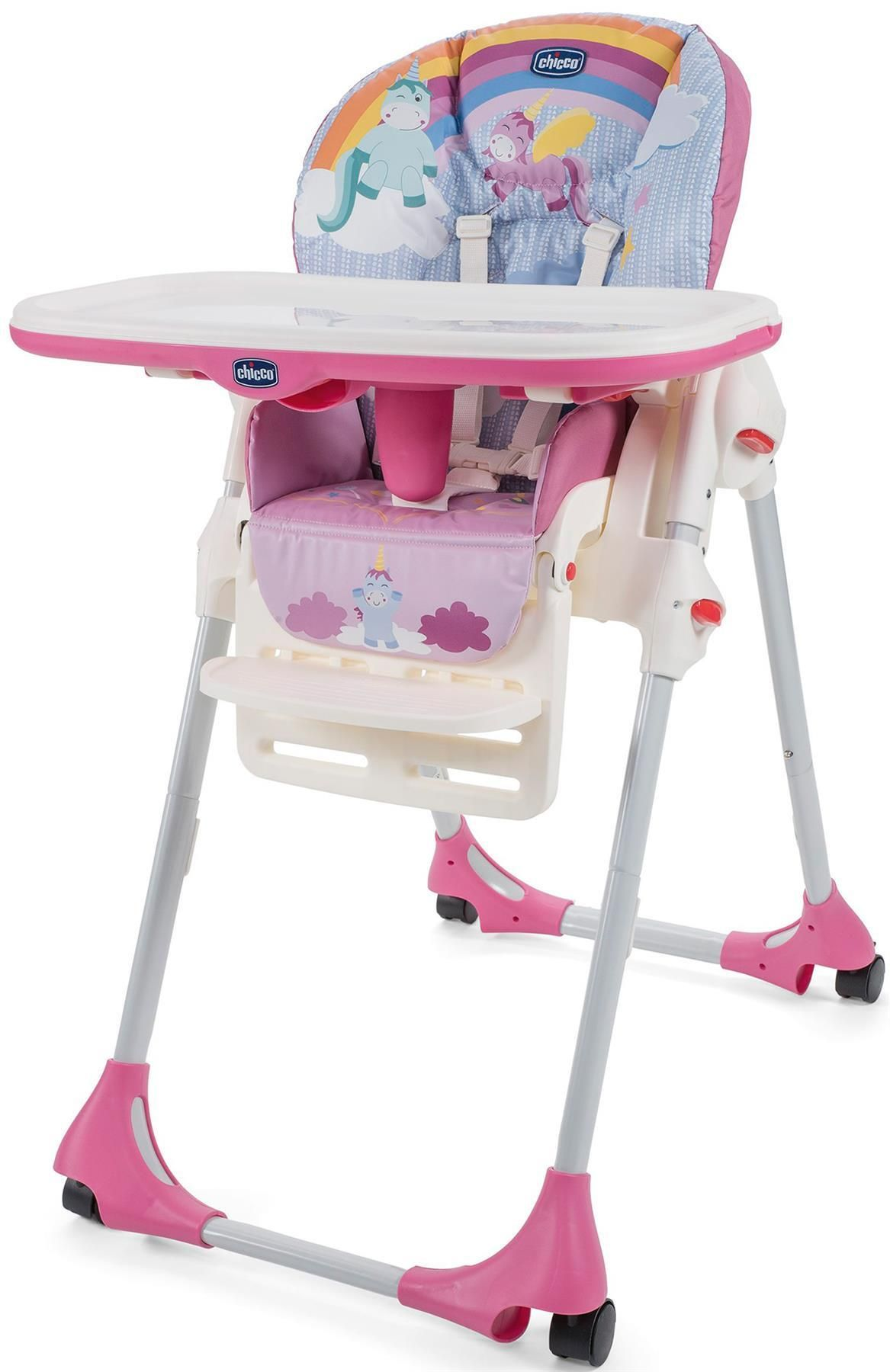 Chicco Polly Easy Highchair Unicorn In 2020 High Chair Wooden