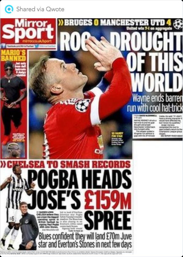 BBC Sport Gossip column De Bruyne, Berahino, Neymar