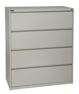 light gray metal wide 4 drawer lateral file l 20 x w 42 x h 52 rh pinterest es