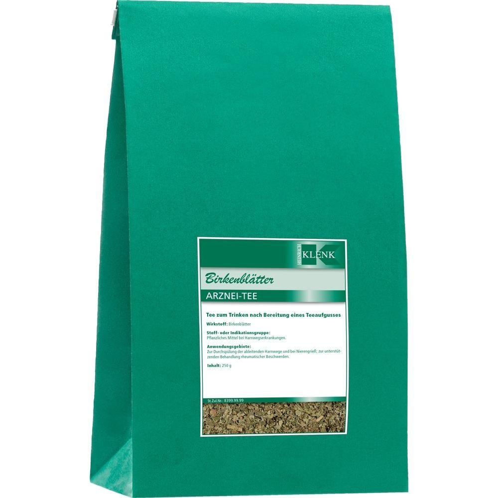 BIRKENBLÄTTER Tee:   Packungsinhalt: 250 g Tee PZN: 10629265 Hersteller: Heinrich Klenk GmbH & Co. KG Preis: 3,35 EUR inkl. 19 % MwSt.…