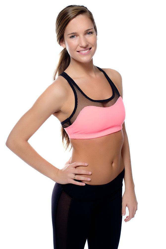 06a265d5f8b Teaser Mesh Sports Bra | Fitness Gear | Bra, Bra tops, Gym style
