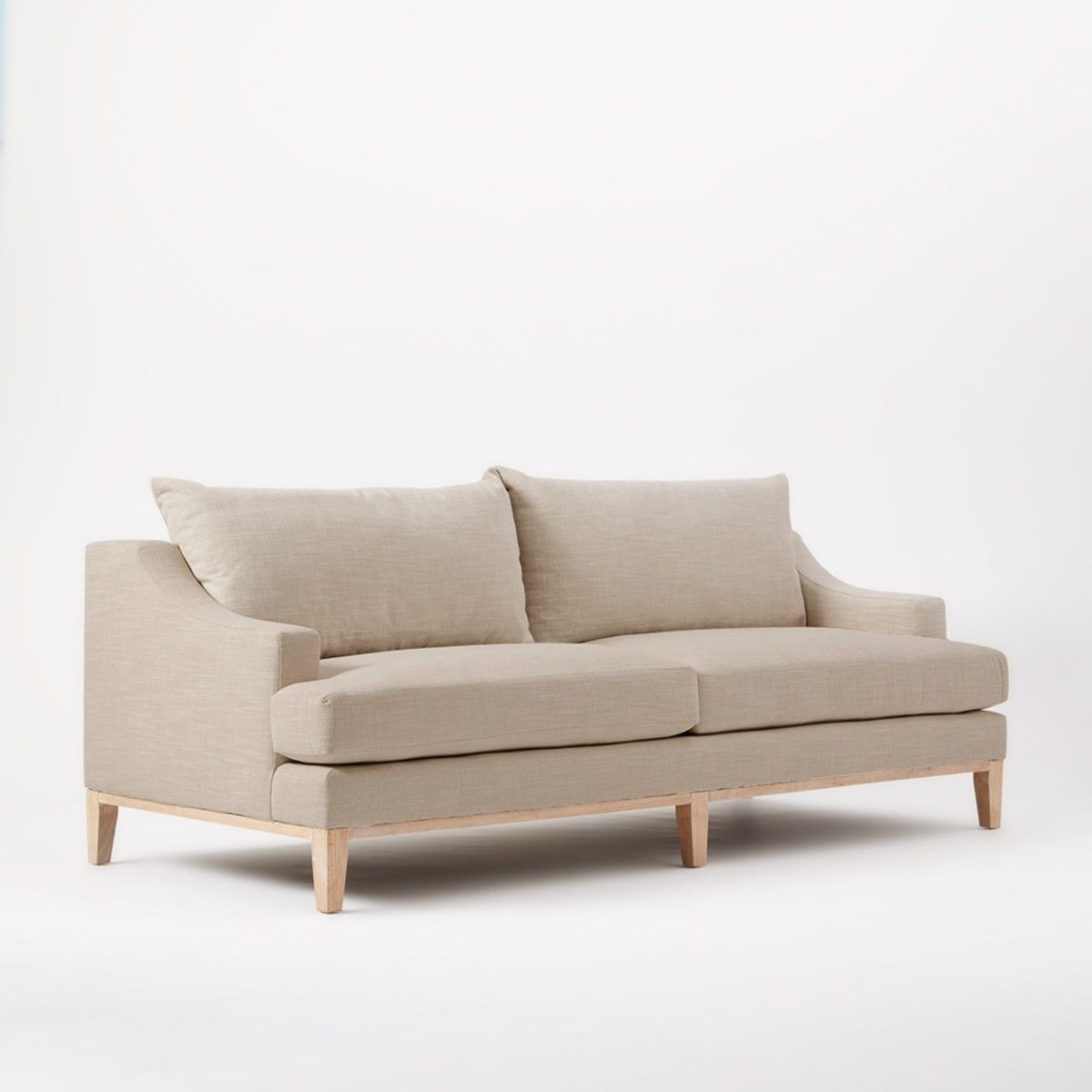 West Elm Montgomery Down Filled Sofa Natural