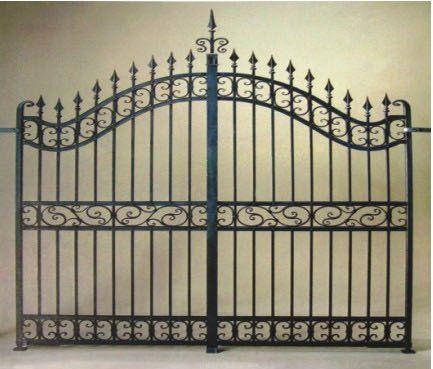 Euro dise o principal de hierro forjado valla puerta de for Puertas de diseno