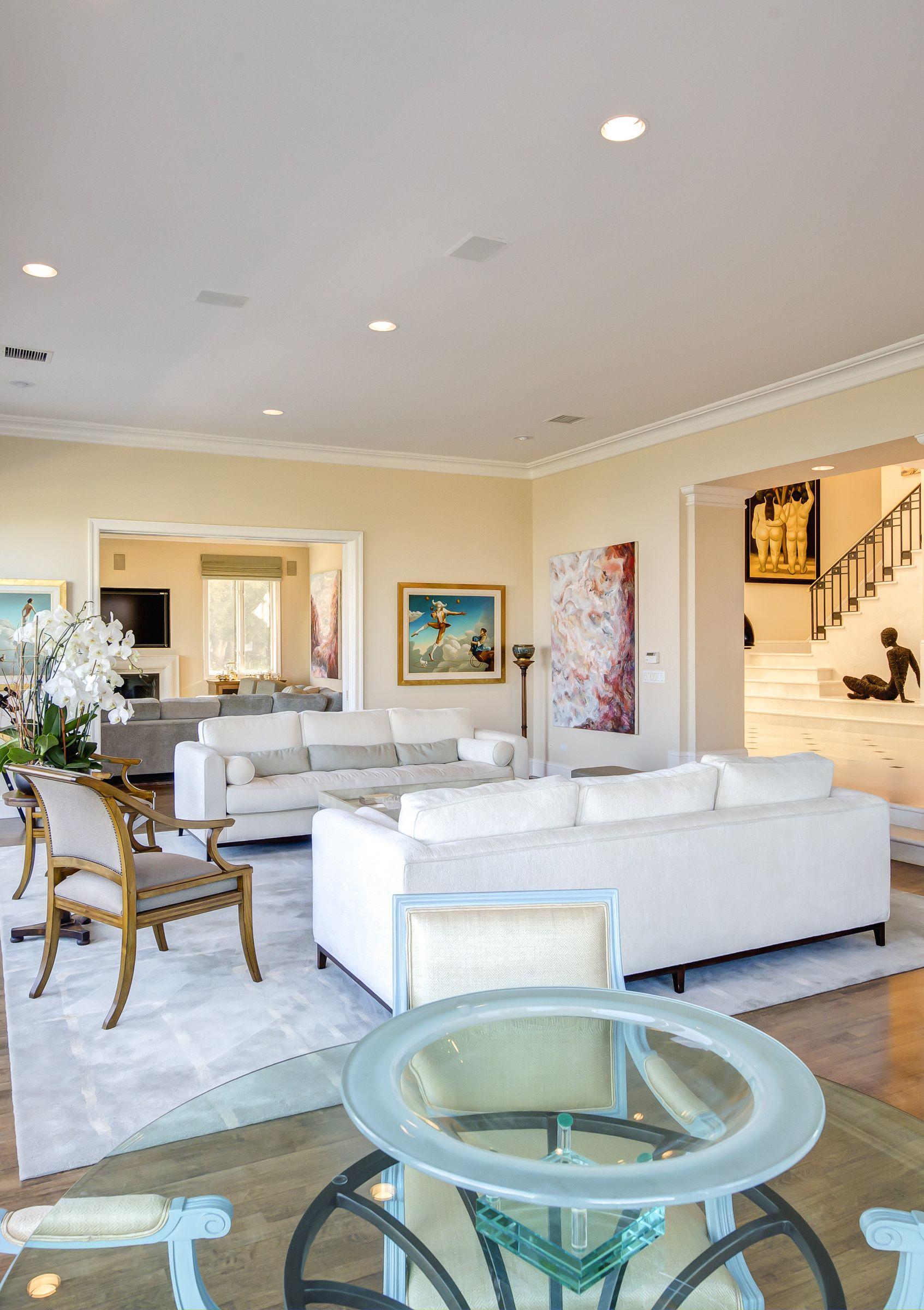 Mediterranean Bel Air Mansion with Modern Art Luxury California