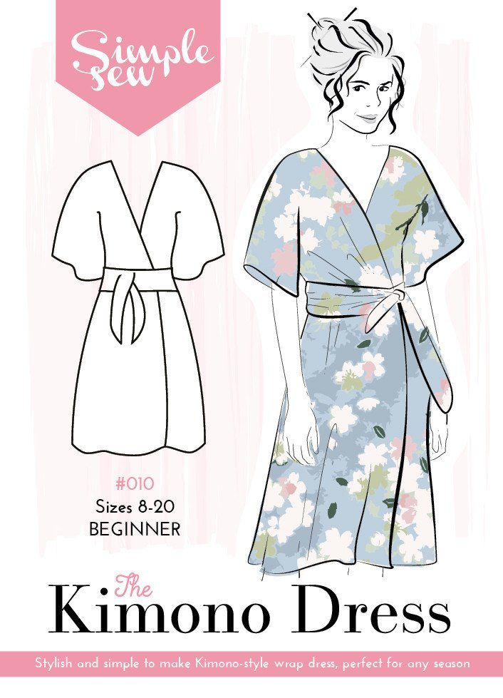 A stylish and simple to make kimono-style wrap dress. It\'s ideal for ...
