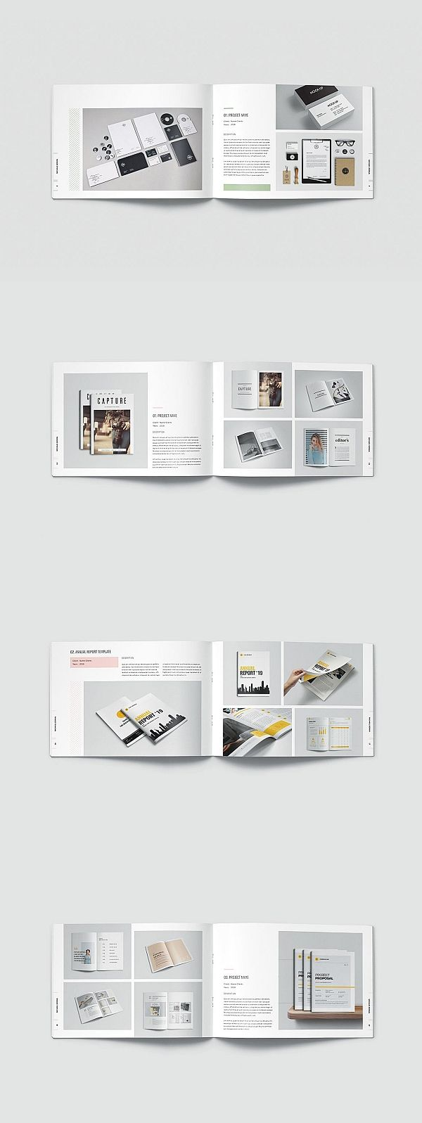 Graphic Design Portfolio Template #portfolio #lookbook #brochure #template #broc…