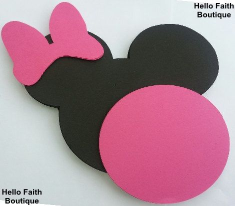 DIY Invitation Kit 25 pack 5 Minnie Mouse ears with by HelloFaith