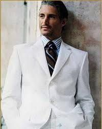 It is hard for me to resist looking at a man in a white linen suit.