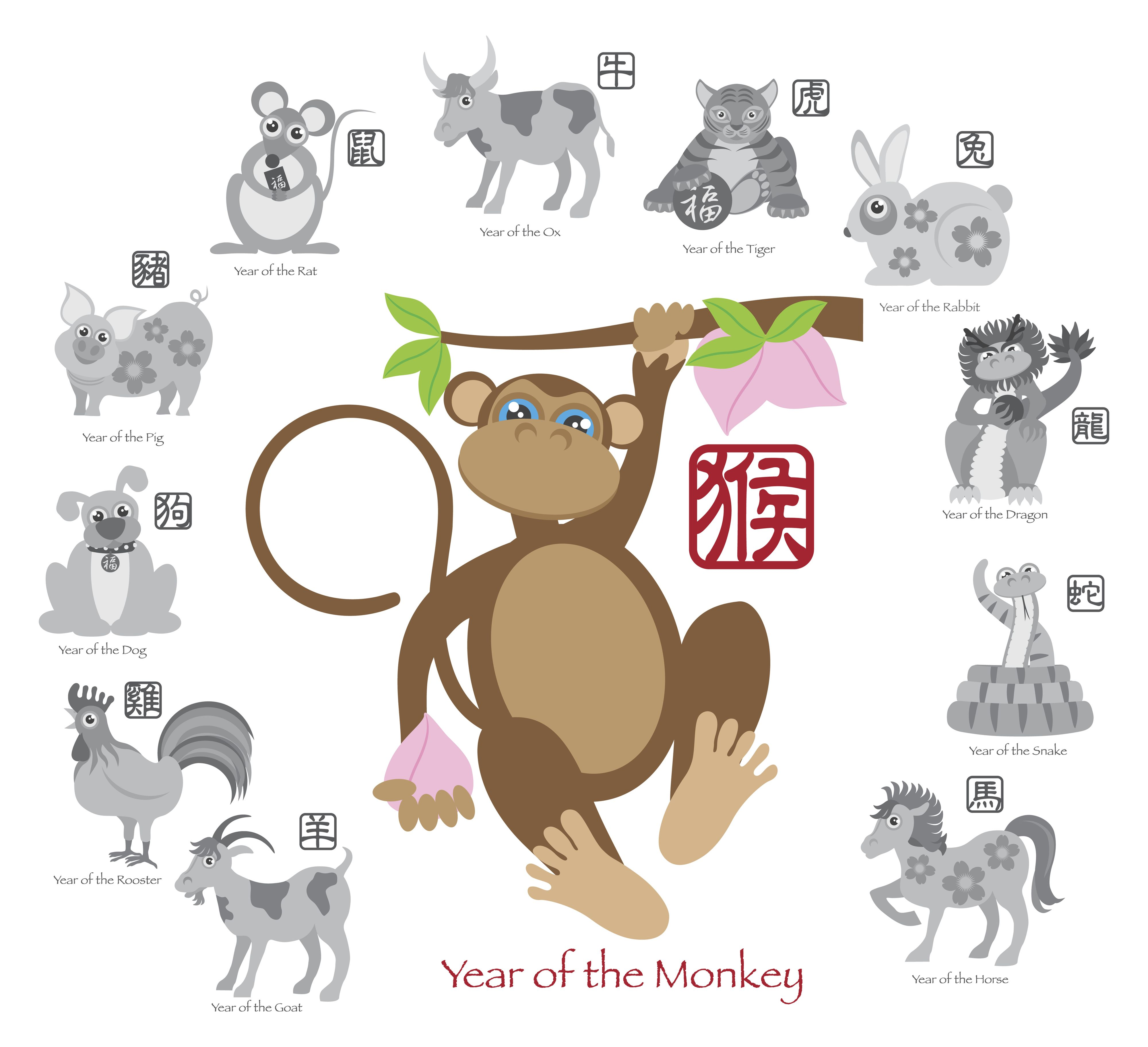 2016 year monkey - what color will the monkey, the symbol of 2016 year