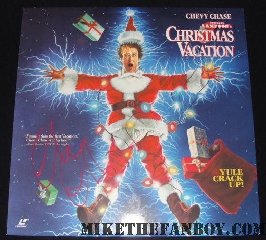 Mavis Staples Christmas Vacation.Christmas Vacation Laserdisc Poster Signed By Chevy Chase