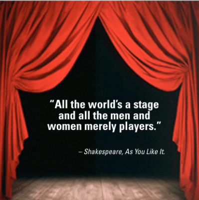 Image result for all the world's a stage quote