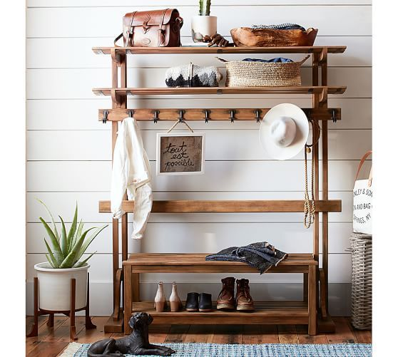 Declan Entry Hall Tree Burnished Pine Entry Furniture Hall
