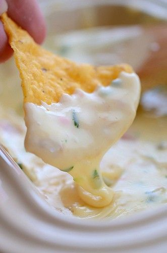 """How To Make Queso Blanco Mexican White Cheese Dip Restaurant Style  Queso Blanco… it's that yummy white cheese dip that you enjoy at *some* Mexican restaurants. Ben and I love it, but it's proven hard to find. Even more difficult is finding a recipe for it! I've been on the lookout for a few years now, so you can imagine my """"hip-"""