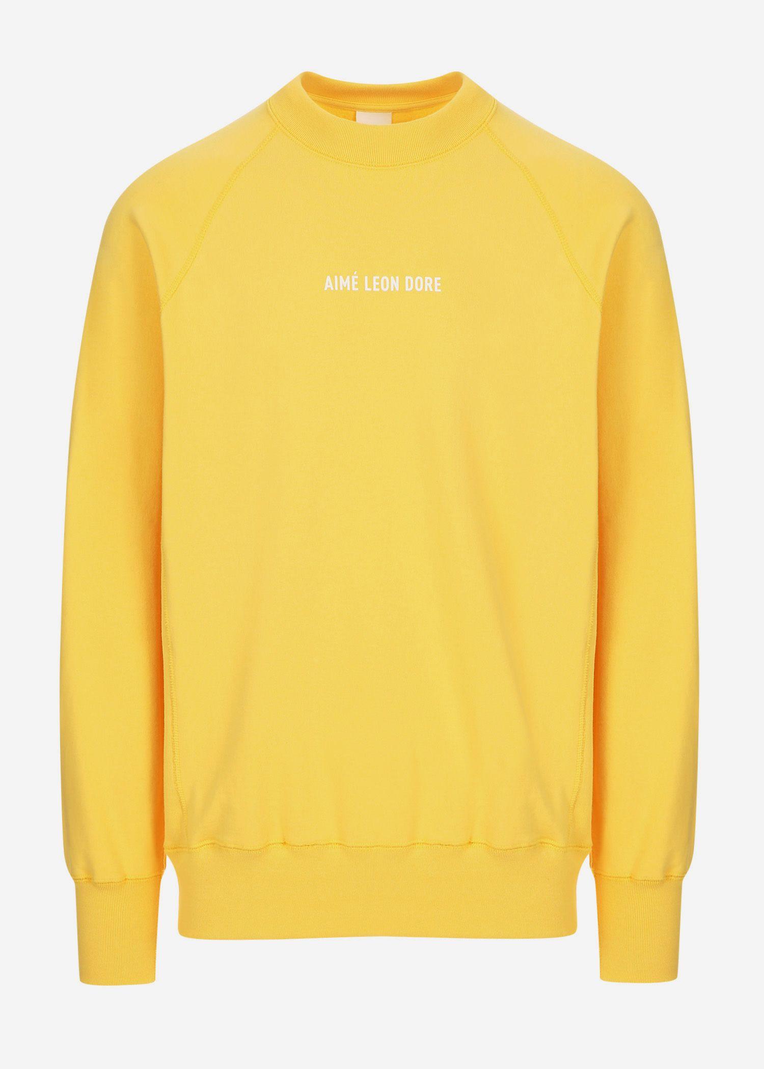 Aime Leon Dore Logo Crewneck Sweatshirt In Yellow Modesens Sweatshirts Crew Neck Sweatshirt Long Sleeve Sweatshirts [ 2100 x 1500 Pixel ]