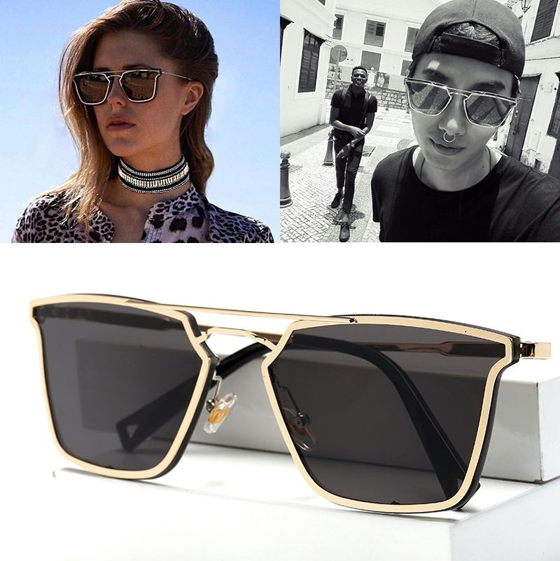 8a45db2a8d3f JackJad 2017 New Fashion Popular Cool Metal Square Frame Sunglasses Men  Women Brand Design Style Sun