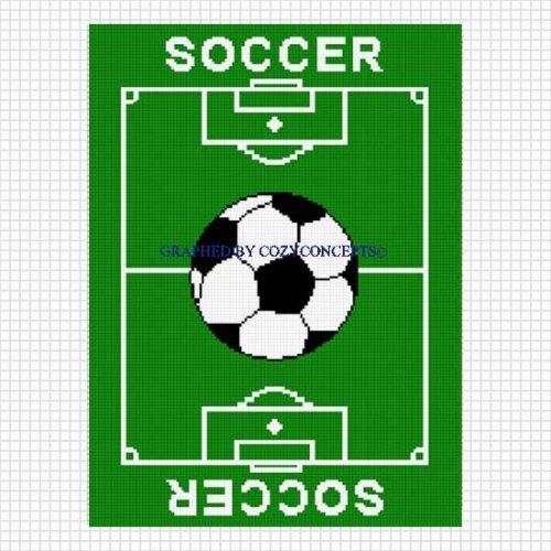Soccer Blanket Crochet Afghan Pattern Graph Knitting Crochet Unique Soccer Blankets And Throws