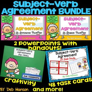 Subject-Verb Agreement A Bundle of Activities Subject verb