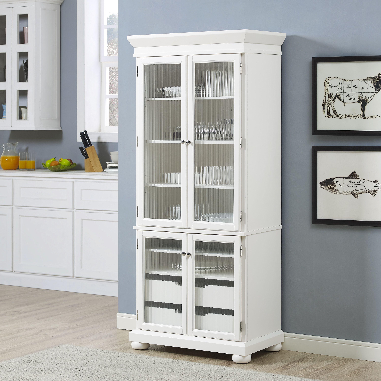 Alexandria Kitchen Pantry In White Finish Pantry Closet Design