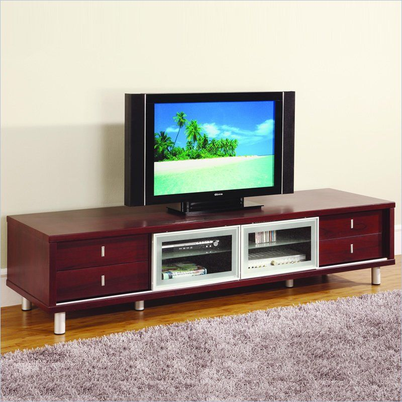 Global Furniture Usa 84 Inch Tv Cabinet In Mahogany M722tv M