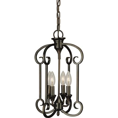 Forte lighting antique bronze four light entry pendant mozeypictures Image collections