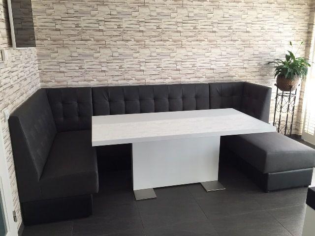 Eethoek eettafelbank loungebank zwevende bank akoestische