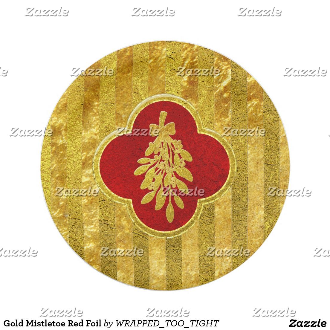 Gold mistletoe red foil paper plate happy holidays pinterest gold mistletoe red foil paper plate buycottarizona Image collections