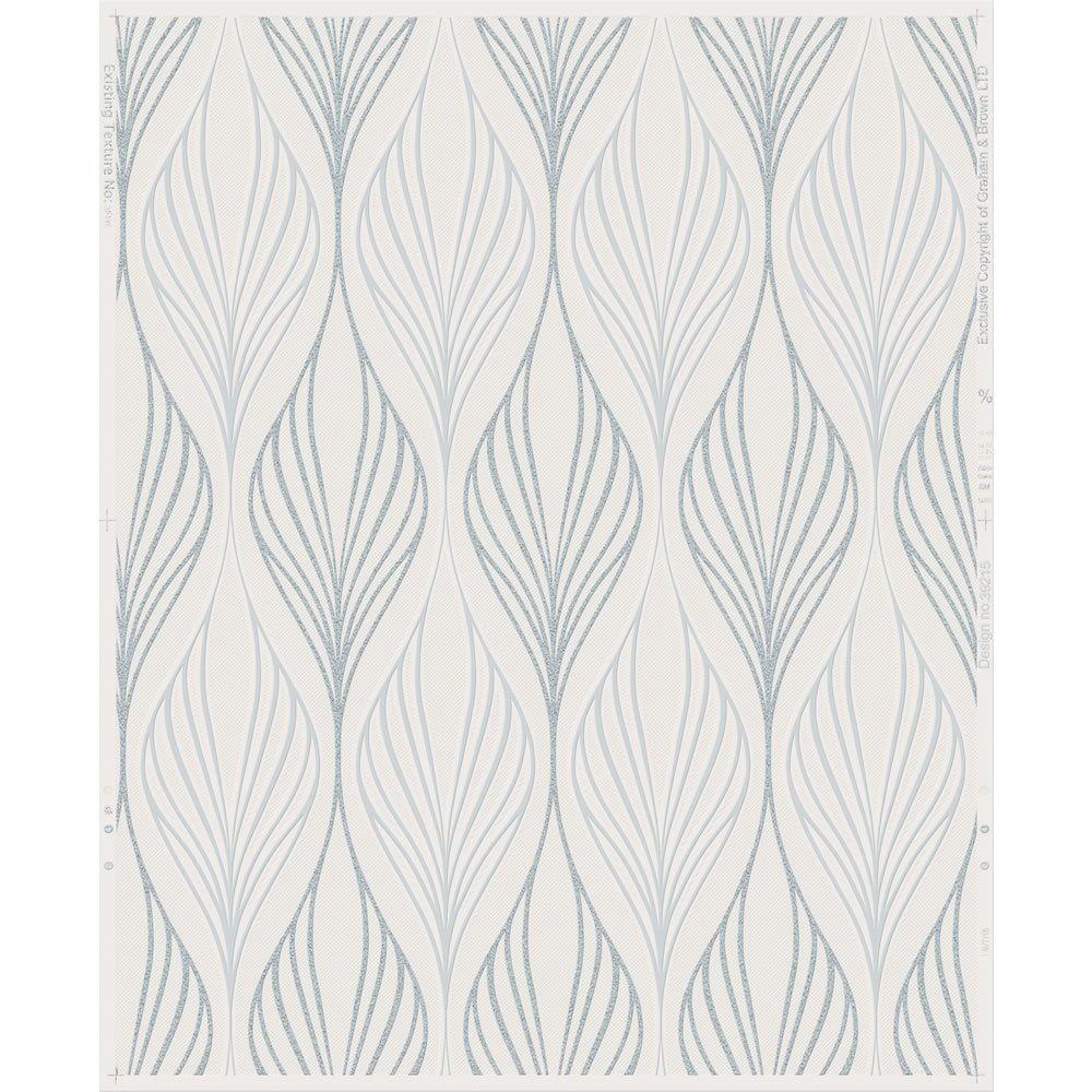 Superfresco Optimum White and Duck Egg Wallpaper (With