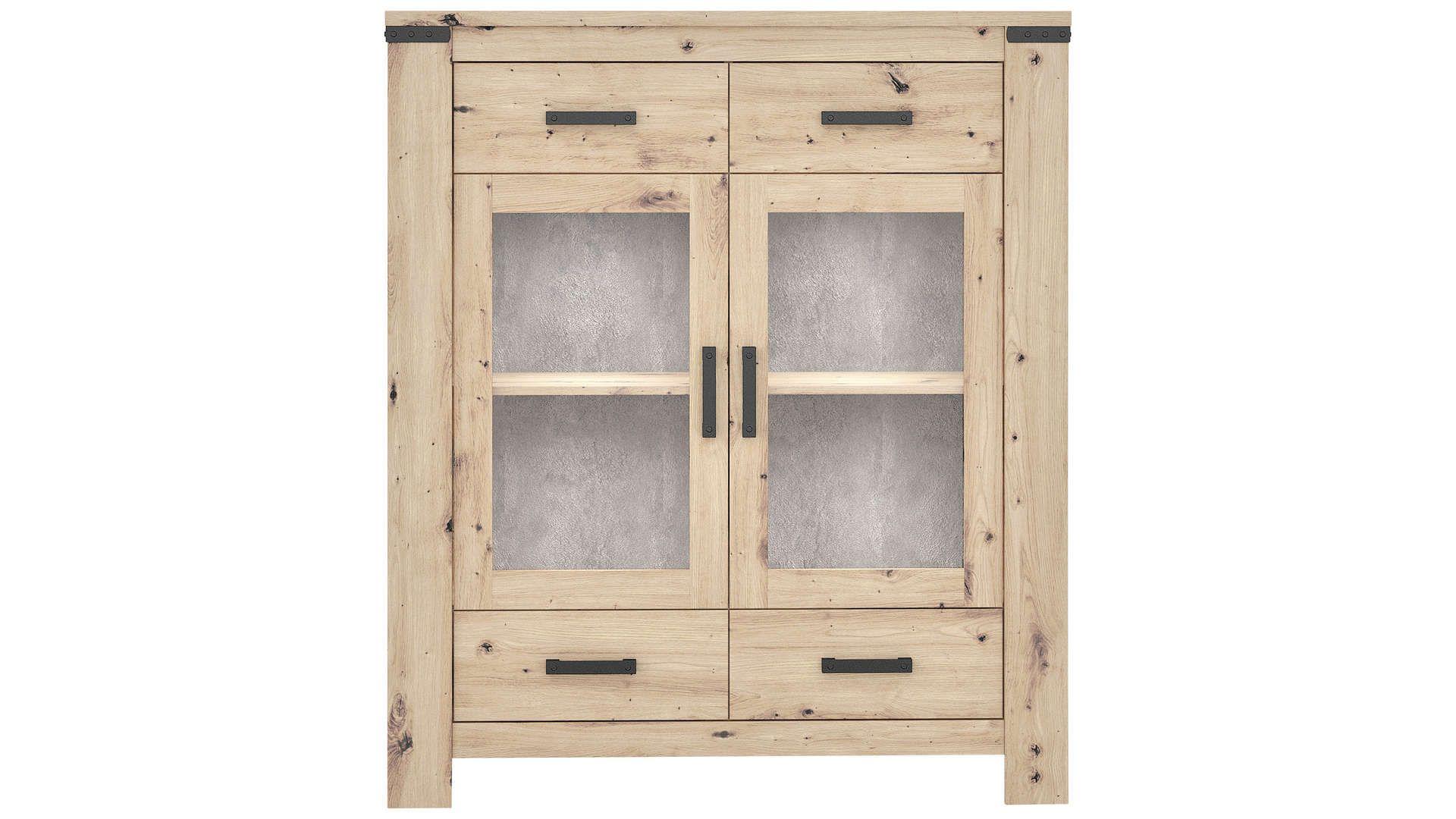 Argentier 15 portes+15 tiroirs HAWAI Imitation chêne naturel
