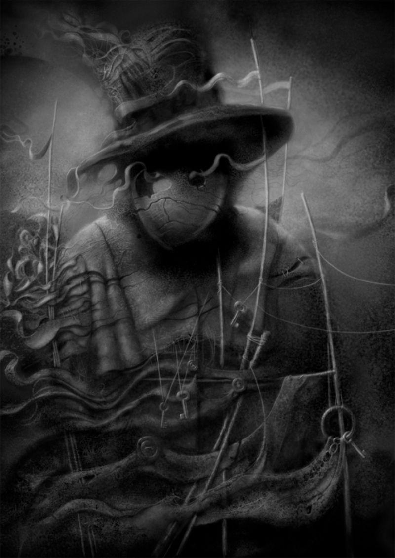 Jacek Kaczynski | Surreal art, Art, Black and white illustration