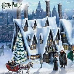 harry potter christmas village collection at hogsmeade