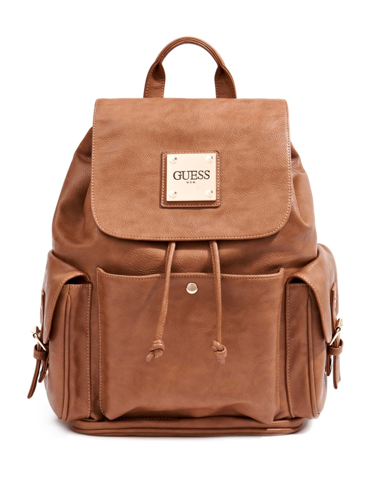 Guess Jessica Drawstring Backpack In 2019 Backpacks