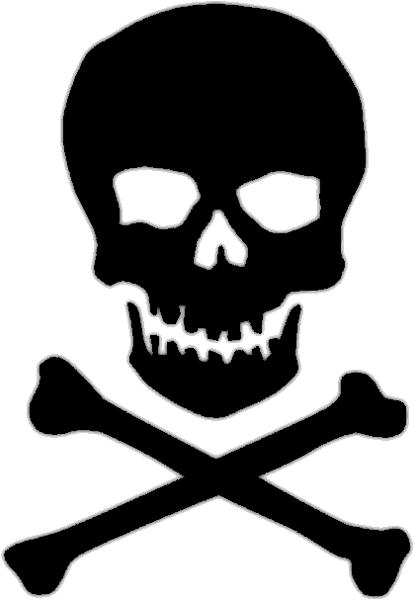 Skull And Crossbones Clip Art Free : skull, crossbones, Skull, Crossbone, Clipart, Crossbones,, Bones