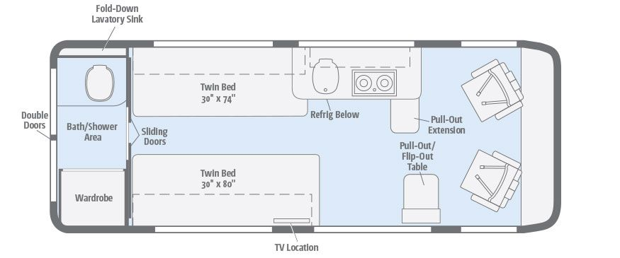 Travato 59k Floorplans Winnebago Rvs Msrp Starting Around 89k