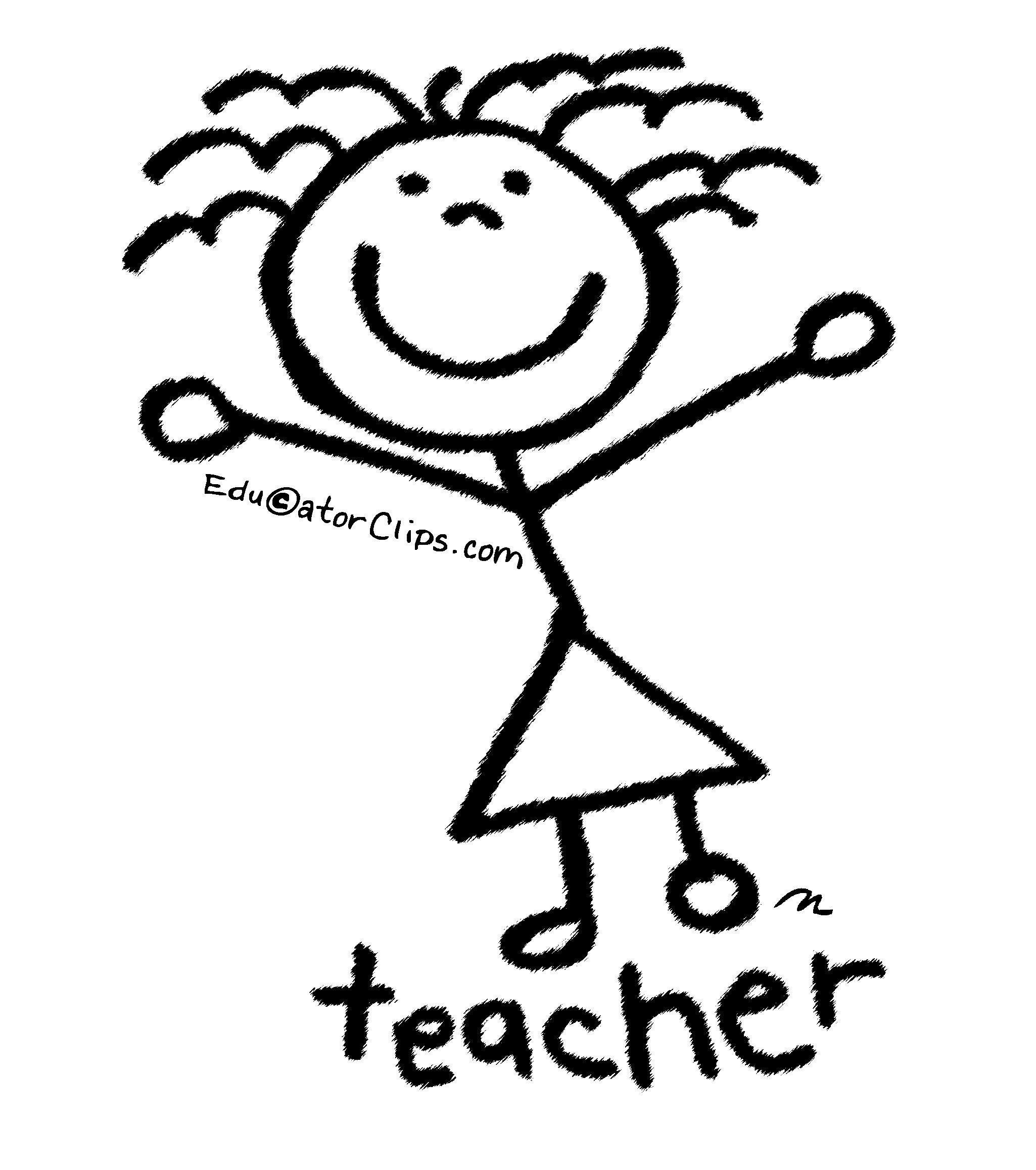 Stick Figure Teacher Clip Art By Mark A Hicks