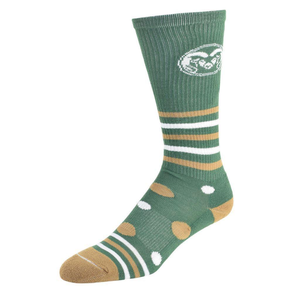 Women's Colorado State Rams Razzle Knee-High Socks, Size: 9-11, Green