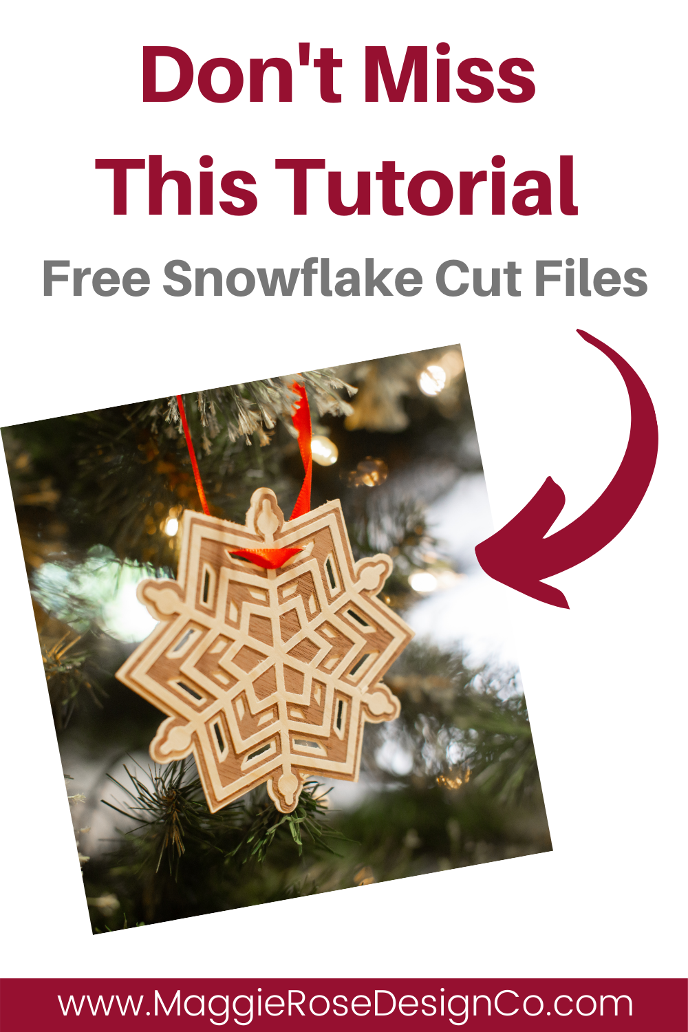 How To Make A Diy Rustic Snowflake Ornament Maggie Rose Design Co Christmas Ornaments To Make Christmas Crafts To Make Snowflake Ornaments