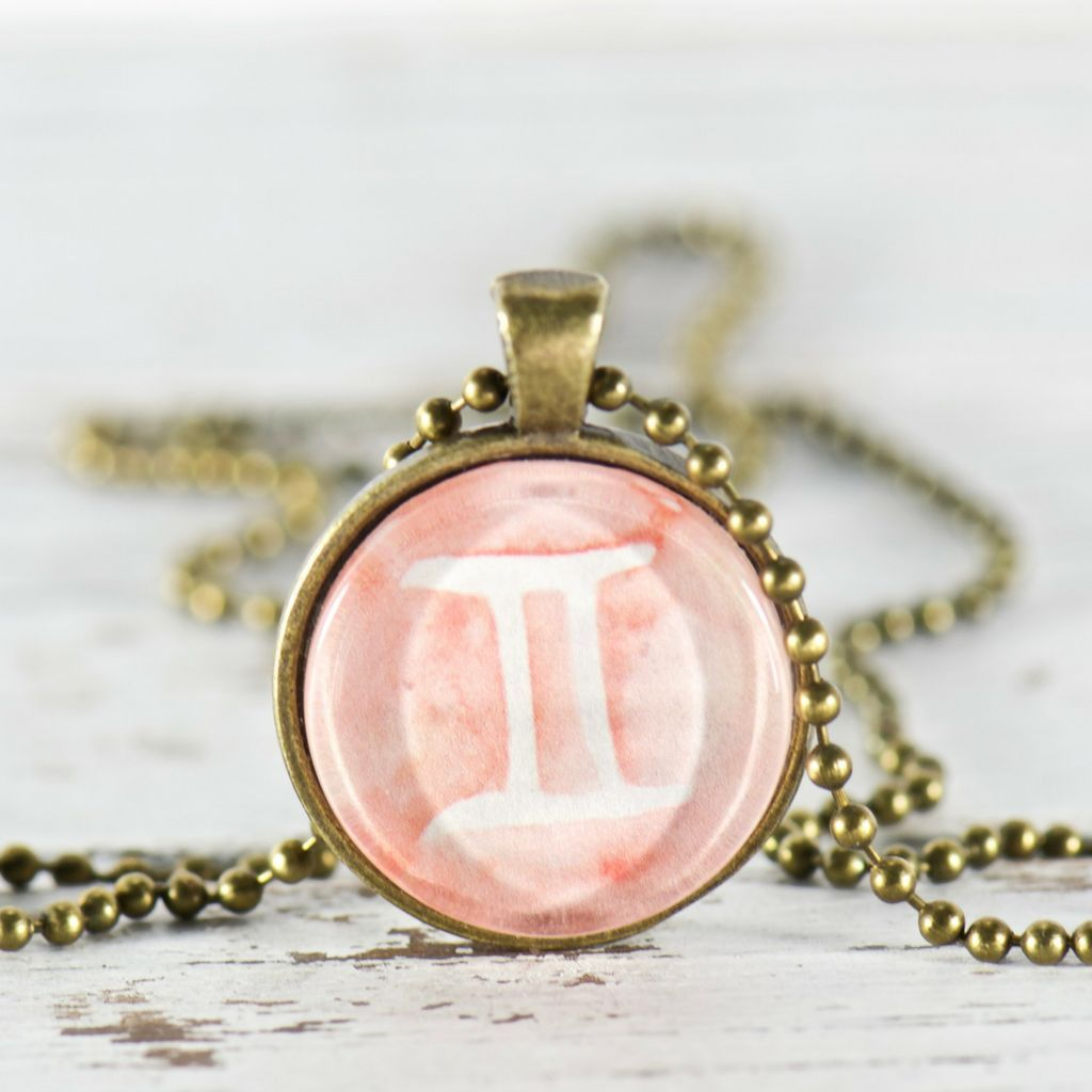 Gemini zodiac pendant necklace gemini zodiac pendants and products