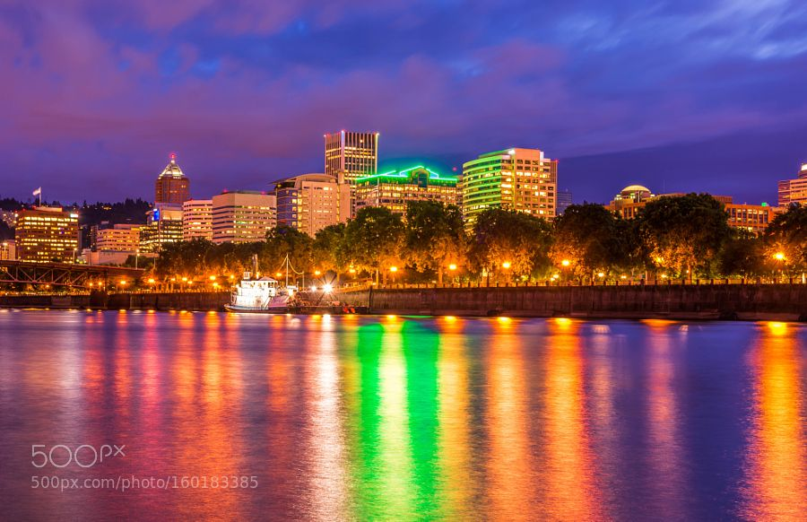 portland cityscape by rathorearvind19