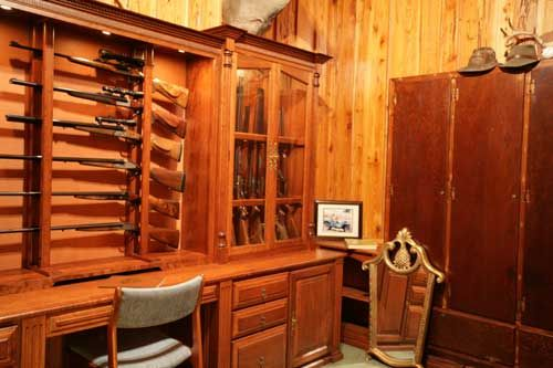 Locally Amish Custom Made Gun Cabinet Wall Unit Side View | Custom ...