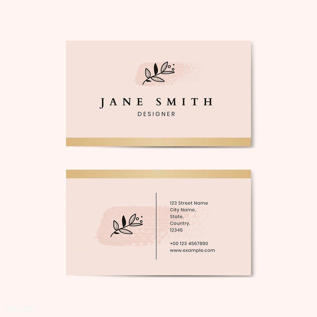 Download Premium Vector Of Minimal Pink Business Card