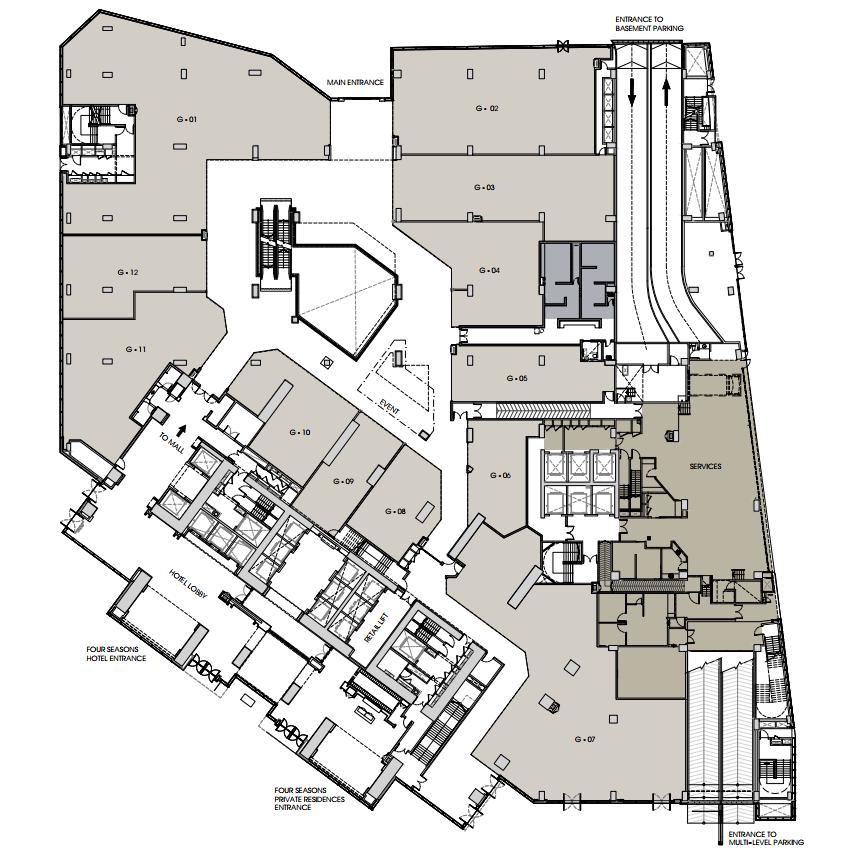 Four Seasons Place Kuala Lumpur Hotel Architecture Hotel Floor Hotel Floor Plan