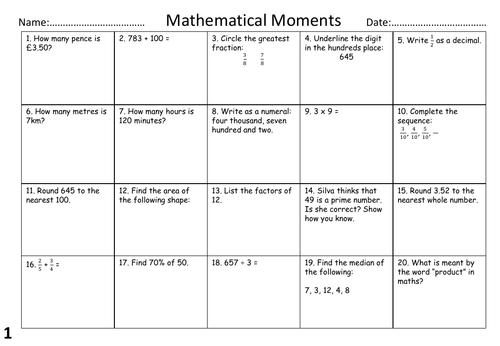 Sats Revision Mat Taster Sats Primary Teaching Ks2 Maths