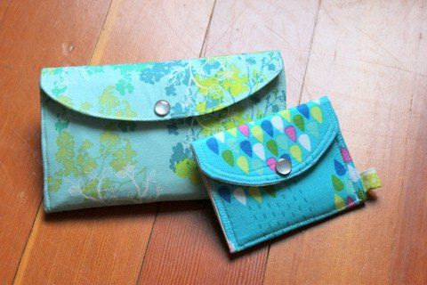 Beginner\'s Simple Mini-Wallet - PDF Sewing Pattern + Sewing Color ...